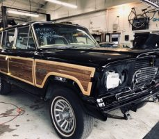 jeep restoration after paintjob just came out of the paint booth